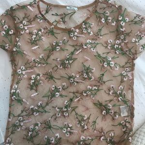 Pink floral Urban Outfitters top